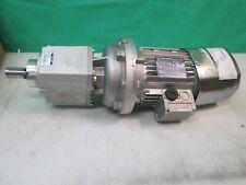 BONFIGLIOLI 265/460V ELECTRIC MOTOR BN 80 A 4 FA W/ INLINE GEAR BOX C222 U 29.6