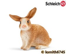 Schleich RABBIT ginger & white solid plastic toy farm pet animal rodent * NEW 💥