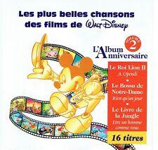 CD - Les plus belles chansons de films de Walt Disney - Vol 2
