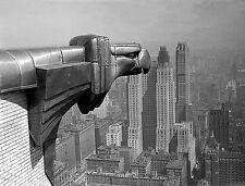 "Chrysler Building Art Deco Metal Eagle Gargoyle Vintage -17""x22"" Art Print-00177"