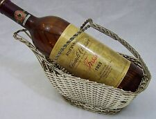 ART DECO ERA FRENCH WOVEN WINE BOTTLE HOLDER SUPPORT POUR BOUTEILLE DE VIN