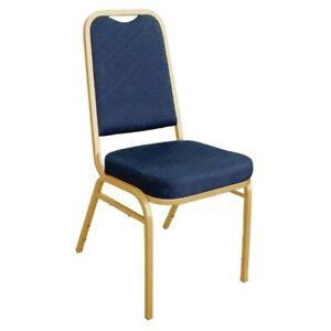 Bolero Bankettstuhl mit gerader Rückenlehne, blau (Box 4) Saalstuhl Gastronomie