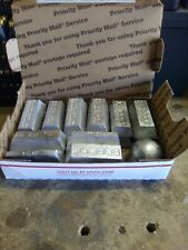 lead ingots reloading and fishing sinkers. 17 lbs of wheel weights
