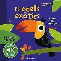 Els ocells exòtics. Llibre de sons. NUEVO. Nacional URGENTE/Internac. económico.