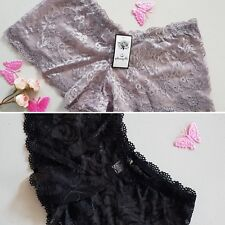 Value Pack of 2 pcs 2XS - Size 6 - Ladies' Lace Hipster-Boyleg Panties