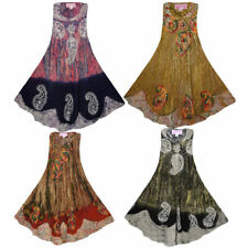 Plus Size Rayon Floral Casual Dresses for Women