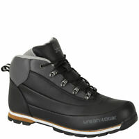 Urban Logik Mens Boots Mens Casual Walking Hiking Ankle Boots Black Size