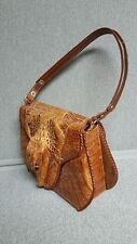 Vintage Genuine Alligator Ladies Purse Handbag Figural Head & Feet Eyes