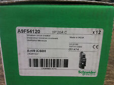 12 x  Schneider A9F54120  1P 20A C Thermal Magnetic Circuit Breaker