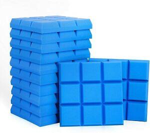 "24Pack Acoustic Foam Panels,Beveled 9 Block Tiles,Sound Panels Wedges 12""X12""x2'"
