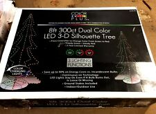 NEW Color Switch Plus 8' Outdoor 3-D Silhouette Christmas Tree