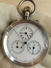 Argent Antique Split Second chronographe rattrapante pocket watch Horse Racing