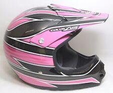 Color Zone Designs Motocross ATV Snowboard Racing Helmet Size XL 61-62 CM Pink