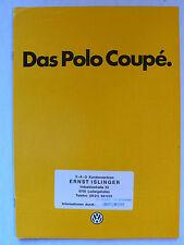 Prospekt Volkswagen VW Polo Coupé con GT, 9.1982, 24 páginas