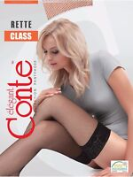 Conte STOCKINGS Class Rette Micro | Fishnet Silicon-Top Thigh High Stay Ups