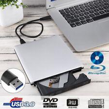 External Blu Ray Player Writer DVD Drive USB 3 Disc Burner  for Laptop Mac