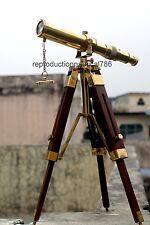 Antique Vintage Solid Brass Navy Ship Telescope Finish /& Black