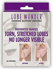 LOBE WONDER EARRING SUPPORT TORN STRETCHED EARLOBE PATCHES (60PCS)