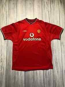 MANCHESTER UNITED 2000 2002 HOME FOOTBALL SHIRT SOCCER JERSEY UMBRO SIZE XL MEN