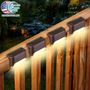 4x Solar LED Deck Fence Deck Lights Outdoor Garden Patio Railing Stair Step Lamp