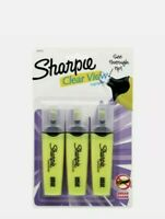 Sharpie Clear View Highlighter w/ Smear Guard | 3-Pack | Yellow.