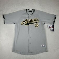NWT Oakland Athletics Baseball Jersey SEWN Genuine MLB Canseco Gray Men M