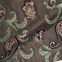 """Luxe Embroidered Paisley Jacquard Woven Upholstery Fabric - 54"""""""