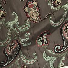 Luxe Embroidered Paisley Jacquard Woven Upholstery Fabric - 54""