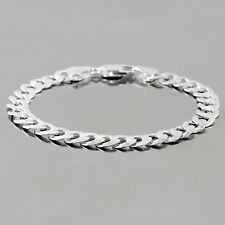 8 INCHES 8MM 925 STERLING SILVER CURB UNISEX BRACELET