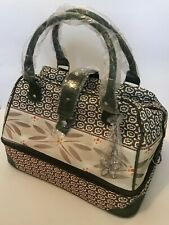 New Temp-Tations Old World Thermal Printed Bag Huge Carry Tote *With 2-qt Dish*