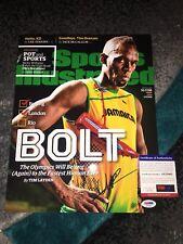 Usain Bolt Signed 2016 RIO Olympics 11x14 Photo 9 Gold Medals Jamaica PSA Auth