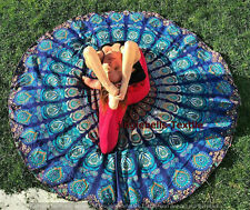Indian Mandala Round Roundie Tapestry Bohemian Beach Throw Yoga Mat Blanket Dorm