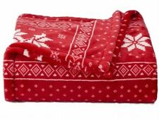 The Big One Plush Super Soft Red Nordic Oversized Microplush Throw Blanket