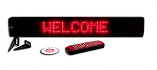 Ultra Bright Red Led Programmable Window Display Sign + Wireless Remote 26""