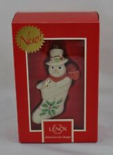 Lenox Holiday Stocking Stuffer Ornament Snowman Mib