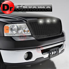 04-08 Ford F150 3x White LED Raptor Style Matte Black Mesh Packaged Grille Grill