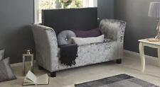 Verona Grey Crushed Velvet Window Seat With Storage Bedroom Furniture