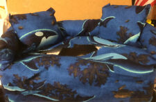 Tissue Box Cover Couch W/ Pillows Whales
