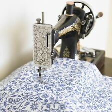 William Morris Merton Blue Cotton Floral Fabric By The Half Metre