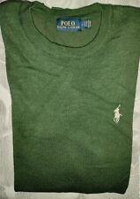 Maglione Ralph Lauren taglia L Verde Felpa Sweater Man Cardigan Pullover Usato