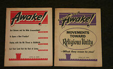 WATCHTOWER AWAKE MAGAZINES 2 ISSUES APRIL 1965 - GOOD COND.