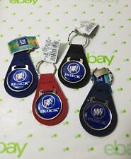BUICK AUTO SUEDE LEATHER KEYCHAIN KEY CHAIN RING BLACK RED BLUE NAVY