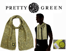BMV Ltd Mens Pretty Green Scarves   Silk BNWT Green Paisley