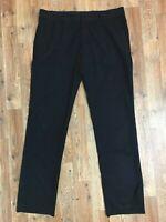 H&M Women's Black Dress/ Career/ Work Pants! 2 Back Pockets w Buttons. Size 36R