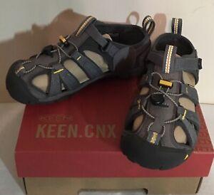 NWB KEEN Seacamp CNX Toddler Gray/Yellow Waterproof Sandals US Sz 13 ~ Eur Sz 31