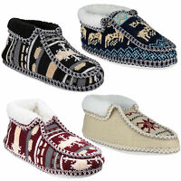 Divaz Norway Slip On Slippers Womens Winter Fleece Lined  Shoes Boots