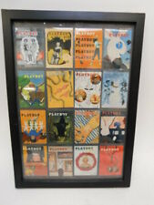Framed 16 Playboy Trading Cards 1950's Magazine Covers (store#270)