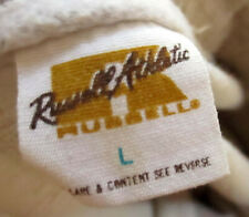Large True Vtg 80s Russell Stone Heather Tan Rayon Blend Sweat Track Pants Usa