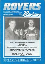 Football Programme - Tranmere Rovers v Halifax Town - Associate Members Cup 1984