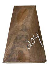 "Beautiful Figured American Walnut Turning Blank/Wood Block 15""x6-1/2""x2"", #204"